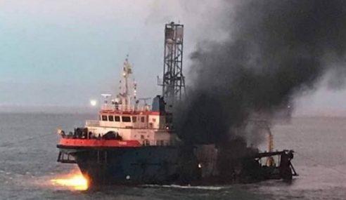 2 Cedera, Seorang Masih Hilang Kapal Terbakar Di Miri