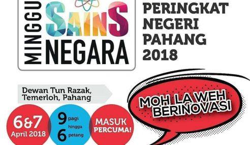 Pahang Dalami Pendidikan Sains Di Ekspo MSN 2018