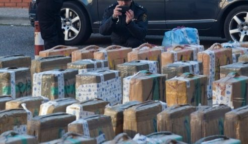 Polis Sepanyol Berjaya Rampas 8 Tan Ganja