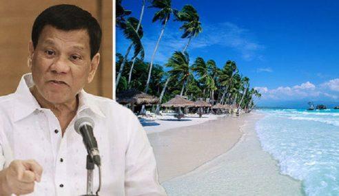 Pantai Penuh Najis, Duterte Arah Boracay Tutup 6 Bulan
