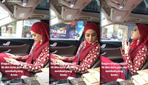 Isu Fathia Solat Dalam Kereta Jadi Perdebatan Ramai