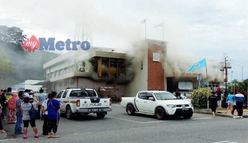 Pusat Penamaan Calon Parlimen Tenom Terbakar