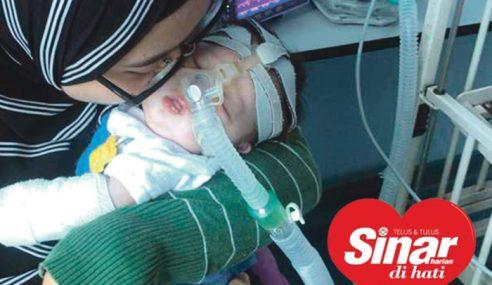 Adik Raisha Perlukan Bantuan Pernafasan