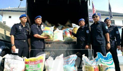Polis Marin Rampas Beras Seludup Bernilai RM34,150