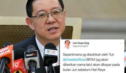 Pembayaran BR1M Sebelum Aidilfitri – Lim Guan Eng