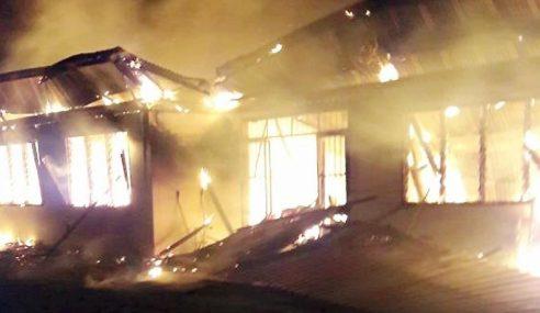 Rumah Musnah Terbakar Sebelum Bersahur