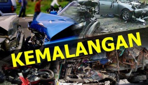 3 Maut Selepas Kereta Hilang Kawalan & Dirempuh Bas