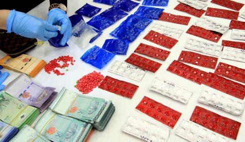 Polis Rampas Dadah Pelbagai Jenis Bernilai RM98,676