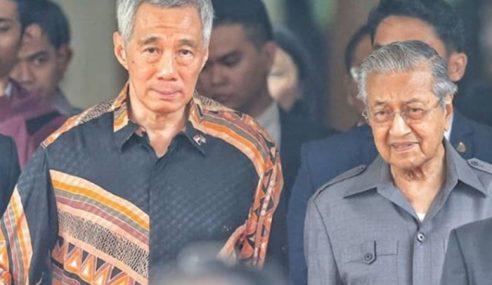 Hsien Loong Kunjungi Dr. Mahathir Di Putrajaya