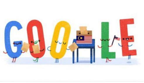 Google Raikan PRU14 Dengan 'Doodle' Comel
