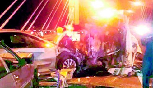 Kemalangan 8 Kenderaan Di Jambatan P.Pinang