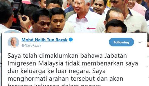 Najib Batal Rancangan Bercuti Ke Luar Negara