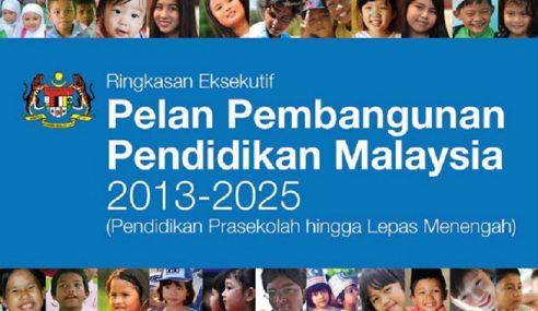 Pelan Pembangunan Pendidikan Akan Diteruskan