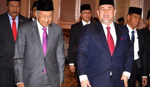 PM Menghadap Yang Di-Pertuan Agong