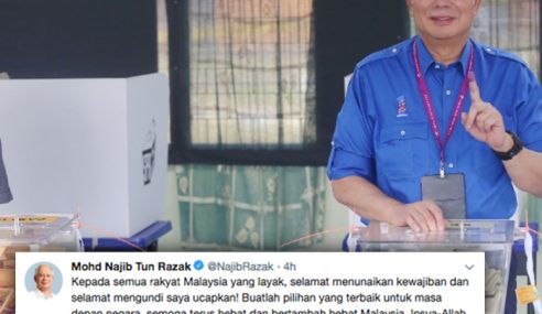 PM Ucap Selamat Mengundi Kepada Rakyat Malaysia
