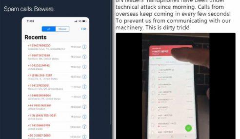 Telefon Bimbit Pemimpin BN Terima Serangan Teknikal