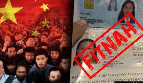 Tular Fitnah Konon Warga China Boleh Mengundi
