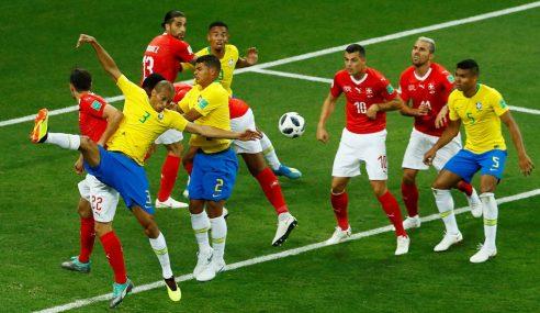 Piala Dunia: Brazil Nyaris Dimalukan Switzerland