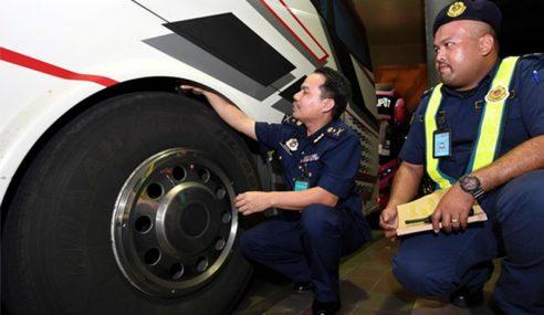 JPJ Terengganu Kesan 8 Kesalahan Pemandu Bas