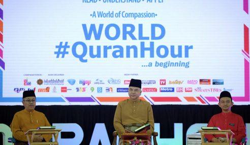 Sultan Nazrin Berangkat Ke Program World #QuranHour