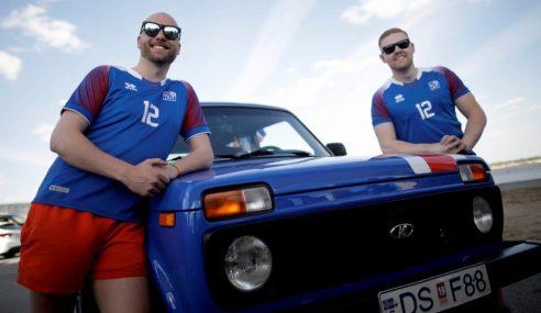 Peminat Iceland Bawa Semangat Viking Ke Rusia