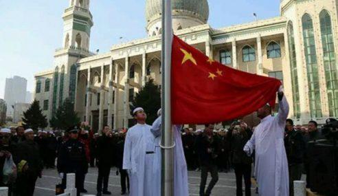 Masjid China Kibar Bendera Negara Semai Patriotik