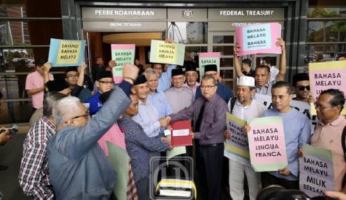 50 NGO Serah Memo Desak LGE Hormat Bahasa Melayu