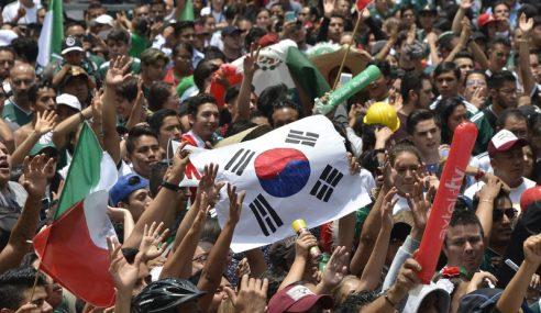 Penyokong Mexico Berpesta Rai Korea Selatan