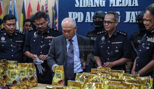 10 Ditahan, Dadah 156kg Bernilai RM7.8 Juta Dirampas