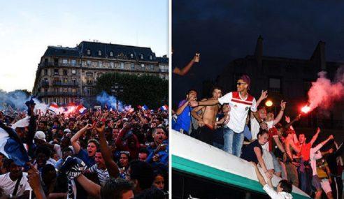 Penonton Cedera Rai Kemenangan Perancis
