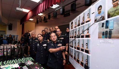Polis Selangor Tumpas Tiga Sindiket Macau Scam