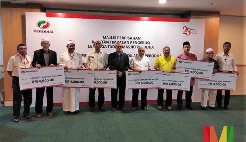 Aidiladha: Perodua Sumbang RM28K Kepada Masjid, Surau