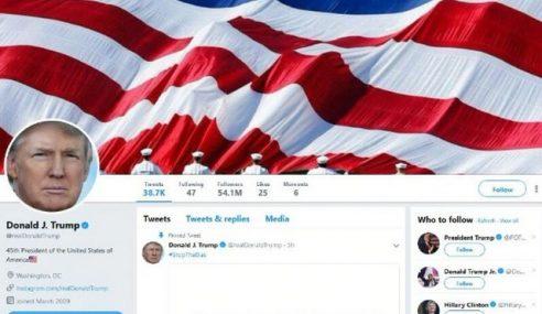Mahkamah Arah Trump Henti Sekat Pengkritik Twitter