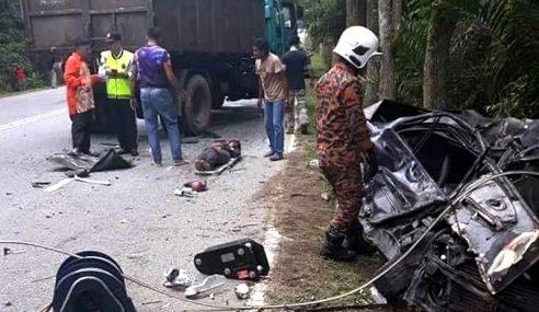 Lelaki Terbunuh Kereta Dilanggar Lori Sampah