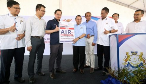 Air Percuma Mulai 1 September Di Johor