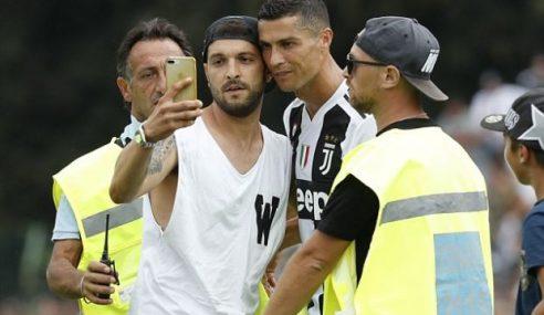 Perlawan Tamat Awal Gara-Gara Penyokong Serbu Ronaldo