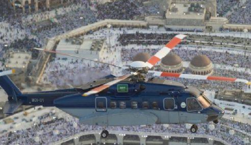 Helikopter Pantau Aliran Jemaah Haji
