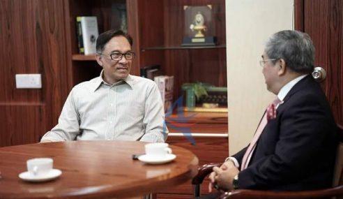 Anwar Jumpa Pesuruhjaya Brunei Bincang Kerjasama 2 Negara