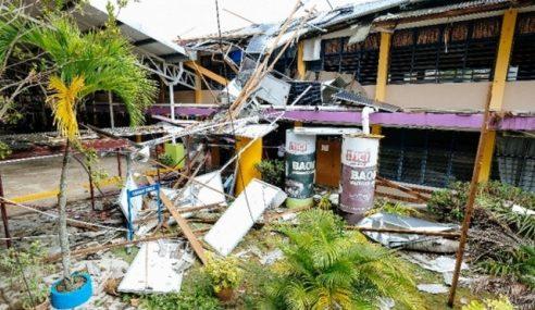 Bumbung Sekolah Tercabut Dibadai Ribut, 5 Pelajar Cedera