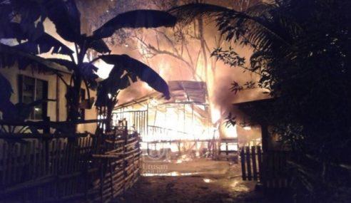 35 Rumah Setinggan Musnah Terbakar Di Sandakan