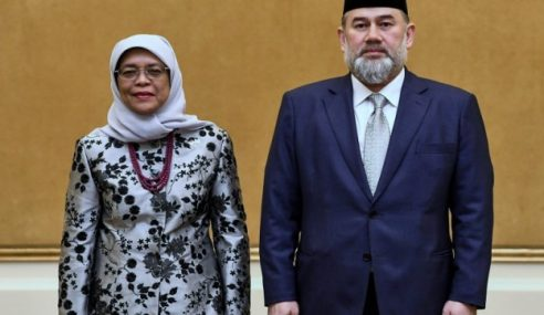 Agong Terima Kunjungan Hormat Presiden Singapura