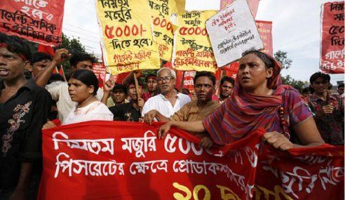Kesatuan Sekerja Bangla Tolak Gaji Minimum RM400