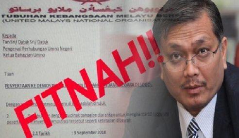 UMNO Nafi Anjur Demo Kuburkan Undang-Undang
