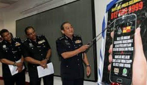 Salur Maklumat Jenayah Menerusi  'Infoline' Polis Selangor
