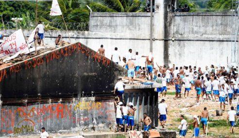 Penjara Brazil Diserang, 100 Banduan Lari