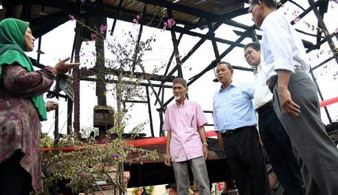 NS Peruntuk RM33,000 Bina Semula Rumah Mangsa Kebakaran