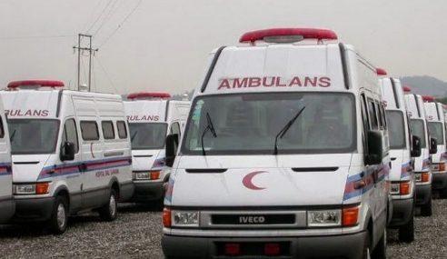 Kakitangan Klinik Kesihatan Cedera Ambulans Dilanggar