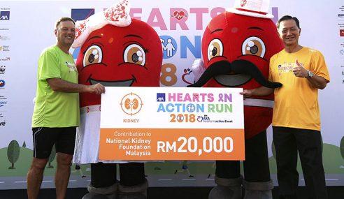 Larian AXA Kumpul RM100,000 Untuk 5 Badan Amal