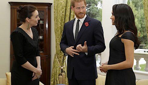 Putera Harry, Meghan Tiba Untuk Lawatan Ke New Zealand