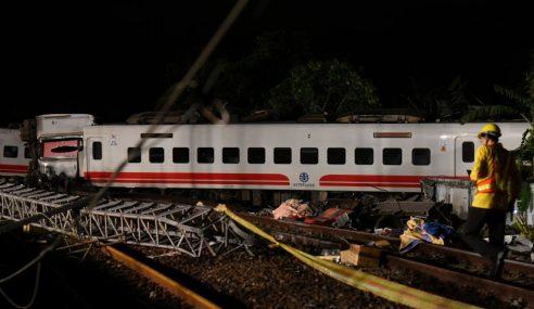 18 Maut, 175 Cedera Nahas Kereta Api Taiwan
